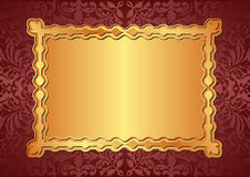 Gold background. Red and gold background with copy space Royalty Free Stock Images