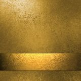 Gold background with ribbon Royalty Free Stock Photography