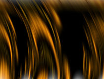 Gold background with shades. Gold abstract background with dark shades, hypnotic design and smoky shapes and lines Stock Photo