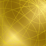 Gold vector background with shiny meridian lines Royalty Free Stock Photos