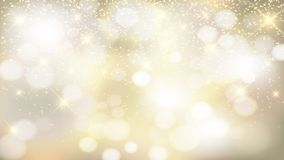 Gold background with silver and shining stars. Luxury gold with silver background for celebrations, holidays, anniversary, new year, Christmas Stock Photography