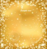 Gold background with sparkles. Vector Stock Photo