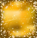 Gold background with sparkles. Vector Stock Images