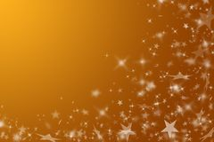 Gold background with stars. Stock Images