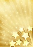 Gold Background With Stars Stock Photos