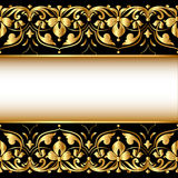 Gold background with a strip Royalty Free Stock Photos