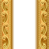 A gold background with a strip with a gold Royalty Free Stock Photo