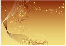 Gold background with twirls Stock Photos