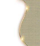 gold background with a wave and shine Stock Images