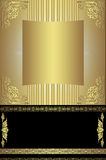 Gold background for your text Royalty Free Stock Photography