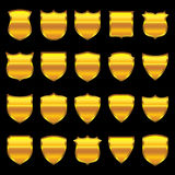 Gold Badge - 1 - Selection of 20 Stock Image