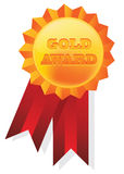 Gold badge Stock Photography