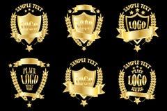 Gold_badge_set 皇族释放例证