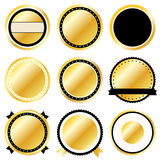 Gold Badge Set Icons Royalty Free Stock Images