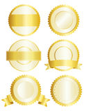 Gold badges / seal Stock Photo