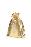 Gold bag Stock Photography