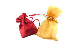 Gold bag and red bag Stock Photography