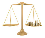 Gold balance. Something equal with money Stock Photography
