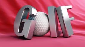 Gold ball. Golf championship, gold ball silver Stock Image