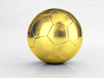 Gold ball. Hi res image of gold soccer ball Royalty Free Stock Photo