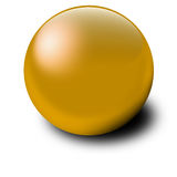 Gold ball Stock Image