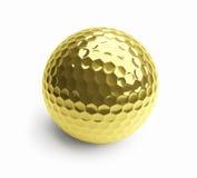 Gold ball. On a white background Stock Photos