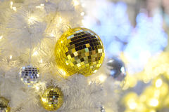 Gold ball and bokeh Royalty Free Stock Photo