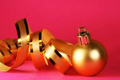 Gold ball Royalty Free Stock Photo