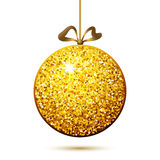 Gold ball, Christmas decoration Stock Photo
