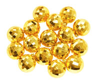 Gold ball new year decorate is on white background Royalty Free Stock Photo