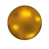 Gold ball. On a  white background Royalty Free Stock Photo