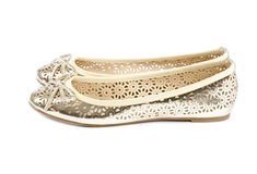 Gold Ballet Slippers #1 Stock Photo