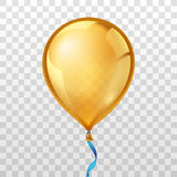 Gold balloon. Vector illustration Royalty Free Stock Images