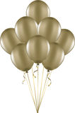 Gold balloons. A bunch of metallic gold balloons Royalty Free Stock Image