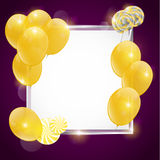 Gold balloons Royalty Free Stock Photography