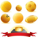 Gold balls Stock Photos