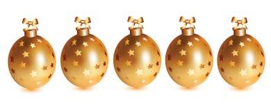 Gold balls Royalty Free Stock Photos