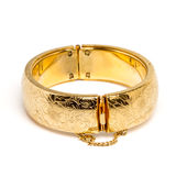 Gold bangle Stock Photo