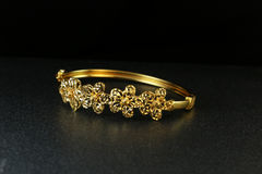 Gold Bangle Jewellery Stock Photography