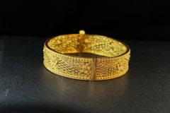 Gold Bangle Jewellery Royalty Free Stock Photography