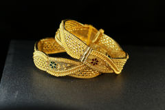 Gold Bangle Jewellery Royalty Free Stock Images
