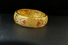 Gold Bangle Jewellery Stock Photo