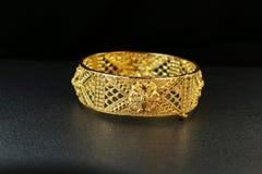 Gold Bangle Jewellery Stock Photo