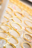Gold bangles Stock Photo