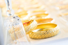 Gold bangles Royalty Free Stock Images