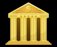 Gold bank Royalty Free Stock Photo