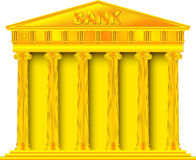 Gold bank Royalty Free Stock Photography