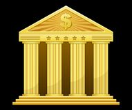 Gold bank Stock Image