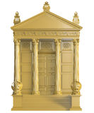 Gold Bank Building Royalty Free Stock Photography