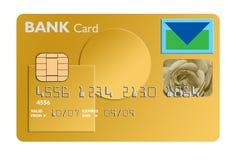 Gold bank card royalty free stock photo